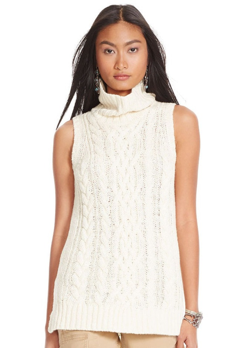 Ralph Lauren Cable Sleeveless Turtleneck
