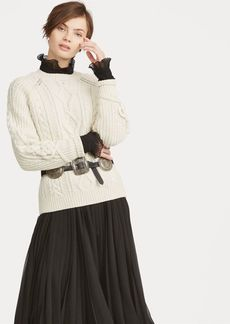 Ralph Lauren Cable Wool-Blend Sweater