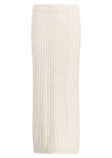Ralph Lauren Cable Wool-Cashmere Midi Skirt