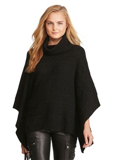 Ralph Lauren Cable Wool-Cashmere Poncho