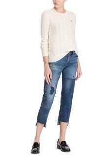 Ralph Lauren Cable Wool Crewneck Sweater