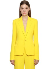 Ralph Lauren Cady Crepe Fitted Jacket