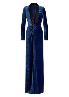 Ralph Lauren Caldwell Velvet Tuxedo Jumpsuit