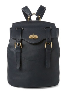 Ralph Lauren Calfskin Turn-Lock Backpack