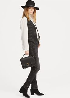 Ralph Lauren Callen Studded High Rise Slim