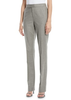 Ralph Lauren Cameron Straight-Leg Virgin Wool Pants