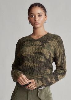 Ralph Lauren Camo Cable-Knit Sweater