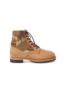 Ralph Lauren Camo Canvas-Suede Boot