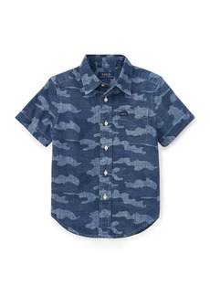 Ralph Lauren Camo Cotton Chambray Shirt