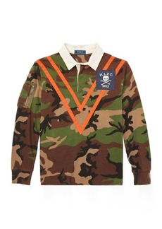 Ralph Lauren Camo Cotton Jersey Rugby Shirt