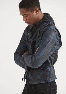 Ralph Lauren Camo Leather Biker Jacket