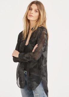 Ralph Lauren Camo Silk Georgette Shirt