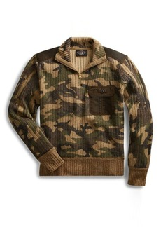Ralph Lauren Camo Wool-Cashmere Sweater