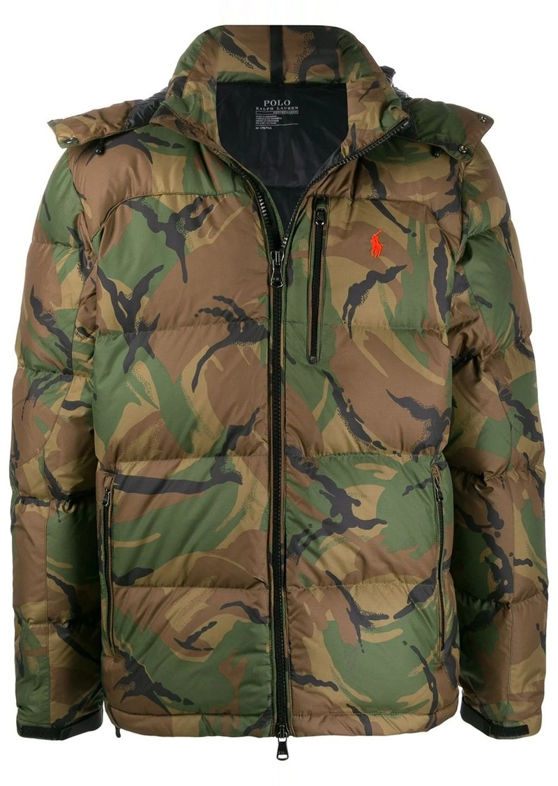 Ralph Lauren camouflage print padded jacket