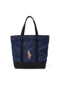 Ralph Lauren Canvas Big Pony Tote Bag