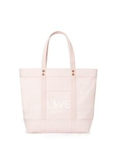 Ralph Lauren Canvas Love Pink Tote Bag