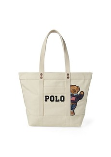 Ralph Lauren Canvas Polo Bear Tote Bag