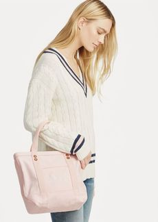 Ralph Lauren Canvas Small Love Tote Bag
