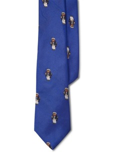 Ralph Lauren Captain Bear Silk Tie