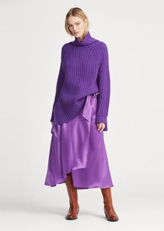 Ralph Lauren Cargo Satin Wrap Skirt
