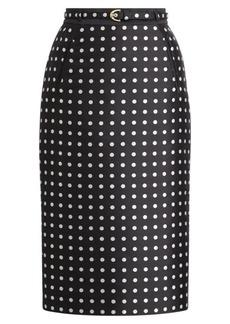Carlton Polka-Dot Pencil Skirt