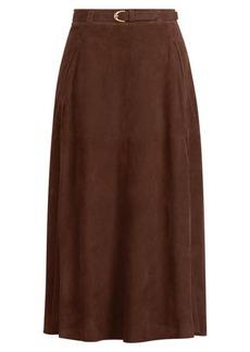 Carlton Suede Pencil Skirt