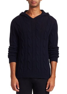 Ralph Lauren Cashmere Cabled Hoodie Sweater