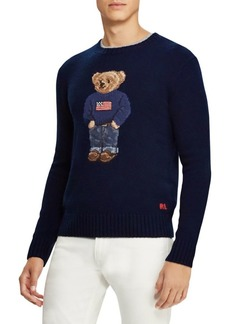 Ralph Lauren Cashmere Flag Bear Sweater