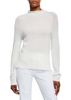 Ralph Lauren Cashmere Lofty Mock-Neck Sweater