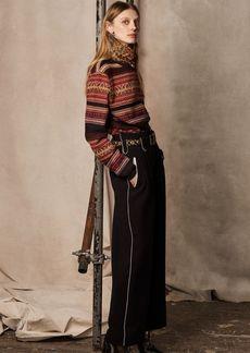 Ralph Lauren Cashmere-Wool Crewneck Sweater