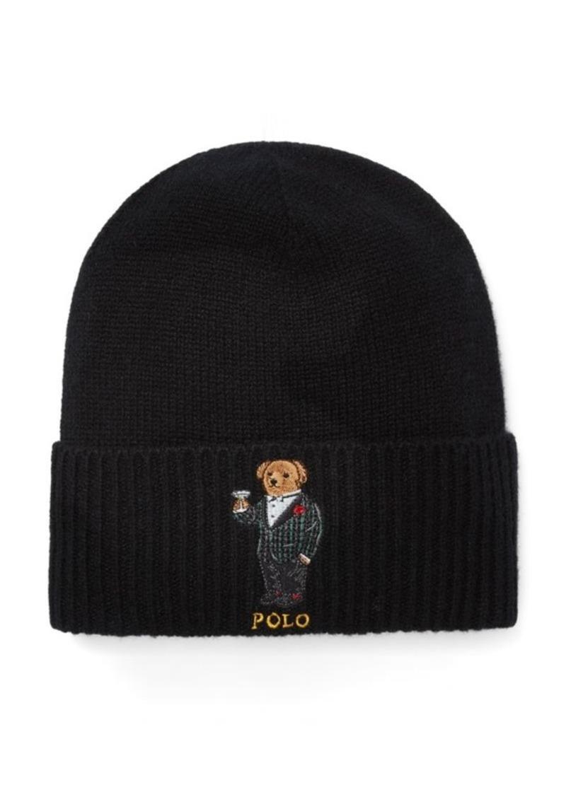 SALE! Ralph Lauren Cashmere-Wool Polo Bear Hat 68efd549557a