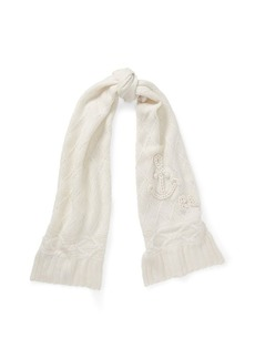 Ralph Lauren Chain-Stitch Anchor Wool Scarf