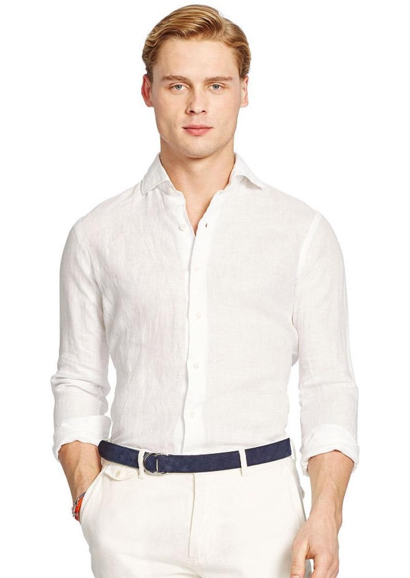 Ralph Lauren Chambray Linen Sport Shirt