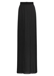 Chantel Pleated Silk Maxiskirt