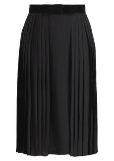 Chantel Pleated Silk Skirt