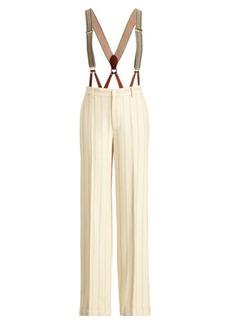 Ralph Lauren Chapman Stripe Silk-Linen Pant