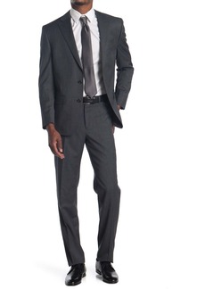 Ralph Lauren Charcoal Grey Sharkskin Two Button Notch Lapel Suit