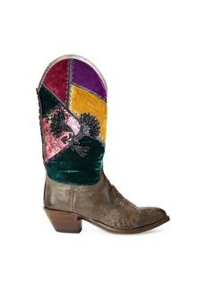 Ralph Lauren Charlenne Patchwork Boot