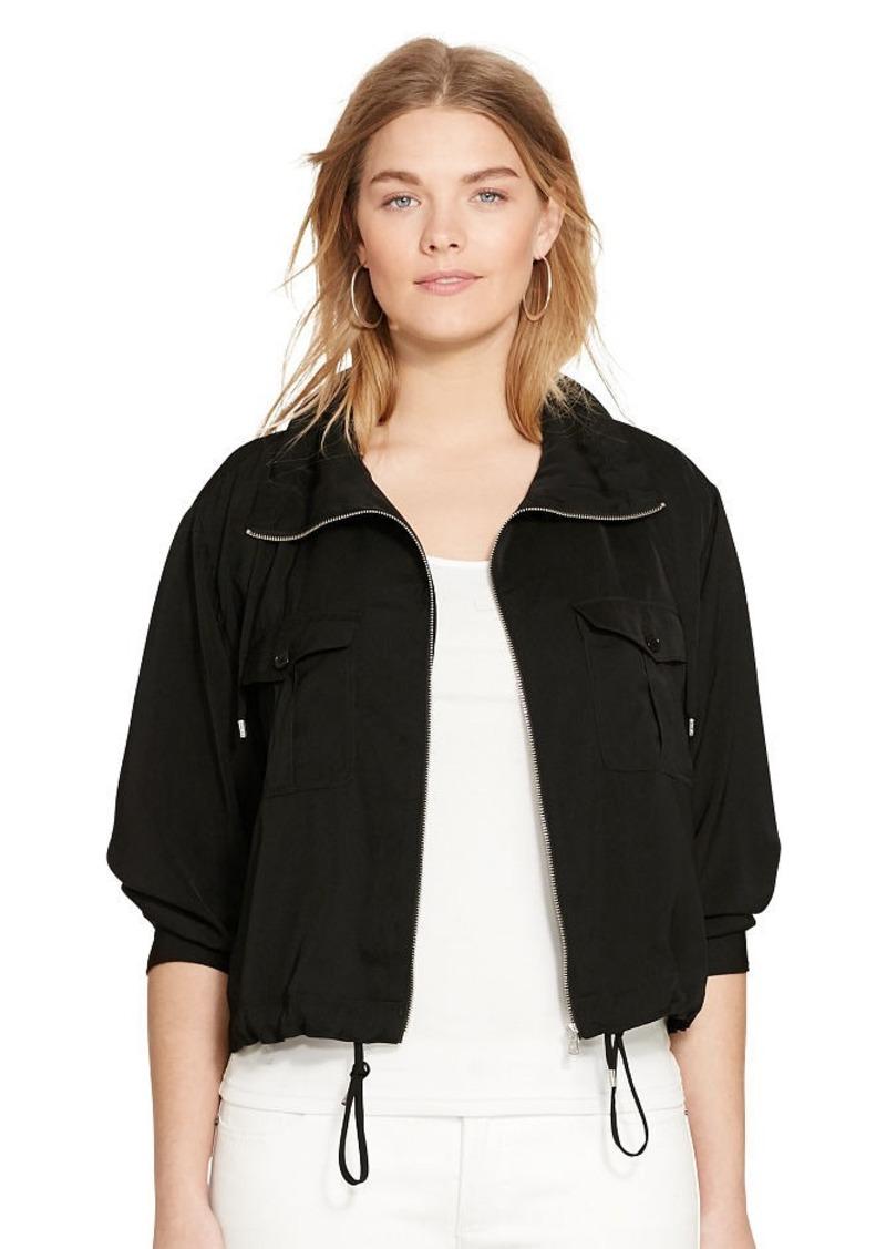 Ralph Lauren Charmeuse Utility Jacket