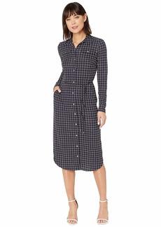 Ralph Lauren Check-Print Jersey Shirtdress