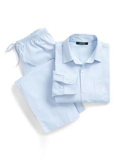 Ralph Lauren Checked Cotton Pajama Set
