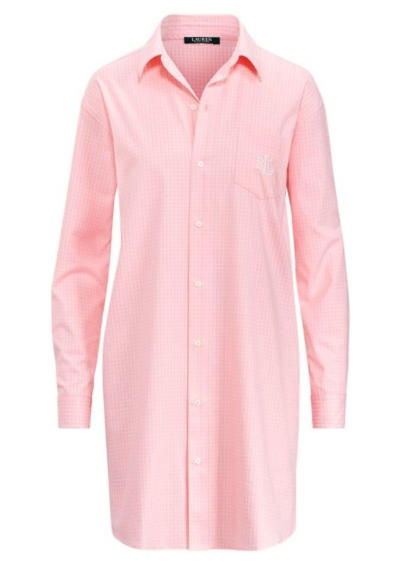 Checked Cotton Sleep Shirt