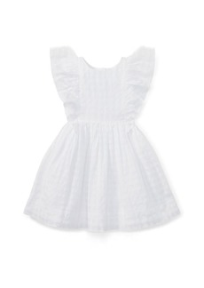 Ralph Lauren Checked Ruffled Cotton Dress