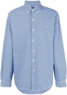 Ralph Lauren check-print long-sleeved shirt