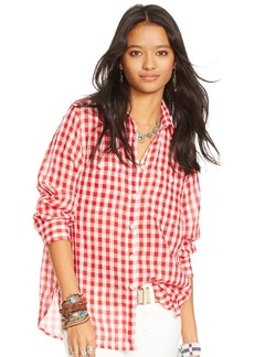 Ralph Lauren Plaid Cotton Gauze Shirt