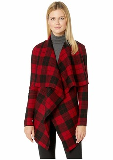 Ralph Lauren Checkered Merino Shawl Sweater