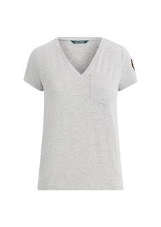 Ralph Lauren Chevron-Patch Jersey T-Shirt
