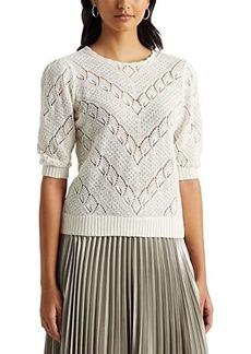 Ralph Lauren Chevron Pointelle Linen Sweater