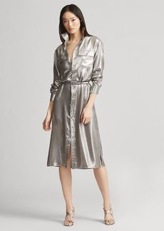 Ralph Lauren Christiane Foil Shirtdress
