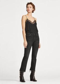 Ralph Lauren Christie Kick-Flare Crop Jean
